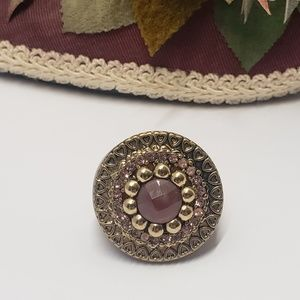 Unique Purple crystal statement ring